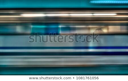 Yeraltı tren hareket Avrupa şehir çalışmak Stok fotoğraf © meinzahn