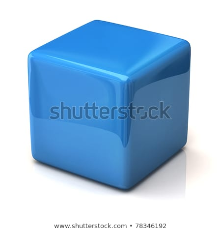 blue cube Stock photo © burakowski