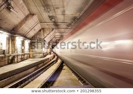 train leaves the underground station Stock photo © meinzahn