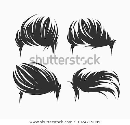 Vintage coiffure cheveux courts mode résumé modèle Photo stock © shawlinmohd