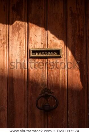 старые заблокированный двери деревне дома текстуры Сток-фото © ultrapro