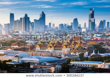 Bangkok ufuk çizgisi Bina inşaat siluet gökdelen Stok fotoğraf © compuinfoto