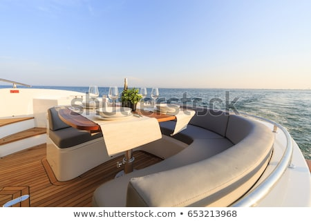 luxury yacht Stock photo © nelsonart