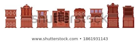 Klasszikus konyhaszekrény klasszikus stílus szoba belső Stock fotó © vizarch