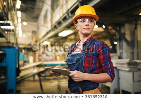 女性 工場労働者 女性 少女 作業 ワーカー ストックフォト © Nejron