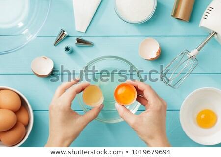 yumurta · kadın · eller · gıda · ev · tablo - stok fotoğraf © witthaya
