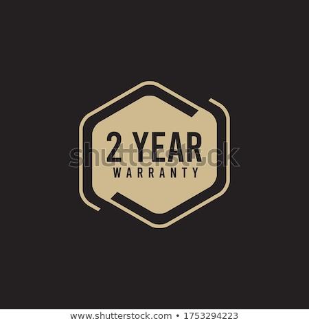 年 保証 金 ベクトル アイコン ボタン ストックフォト © rizwanali3d