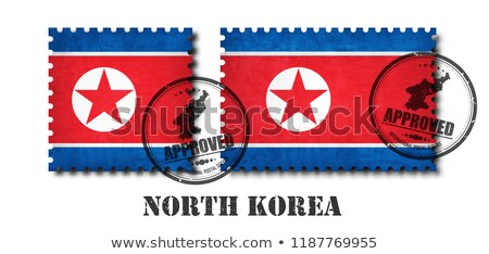 bandeira · norte · adesivo · isolado · branco · ilustração · 3d - foto stock © mikhailmishchenko