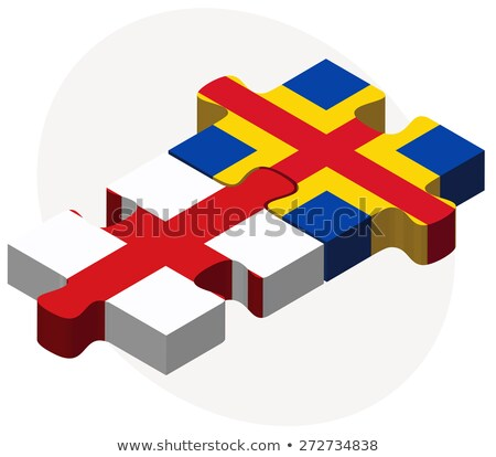 england and aaland islands flags in puzzle stock photo © istanbul2009