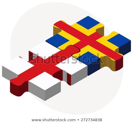 Inghilterra bandiere puzzle isolato bianco Foto d'archivio © Istanbul2009