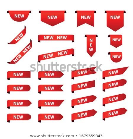 Nyár piros cetlik vektor ikon terv Stock fotó © rizwanali3d