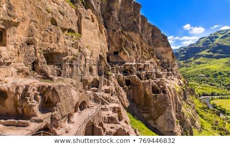 Tájkép barlang város kolostor egy fő- Stock fotó © Taigi