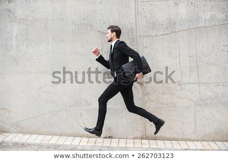 homme · courir · costume · cravate · rendu · élevé - photo stock © fuzzbones0