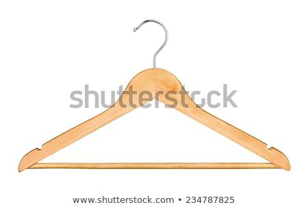 Houten hanger geïsoleerd witte mode sleutel Stockfoto © shutswis