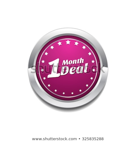 1 Month Deal Pink Vector Button Icon Stock photo © rizwanali3d