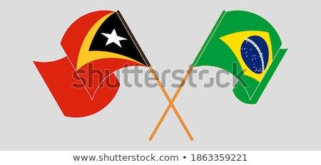 Brasil banderas rompecabezas aislado blanco negocios Foto stock © Istanbul2009
