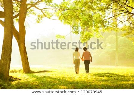 Matka I Córka Spaceru W Parku Zdjęcia stock © szefei