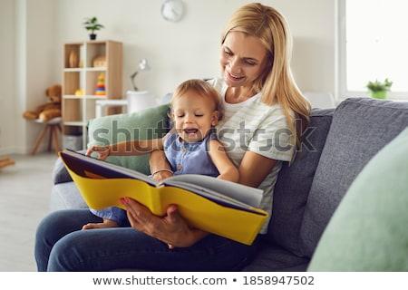 Cute счастливым сидят любящий Сток-фото © dariazu