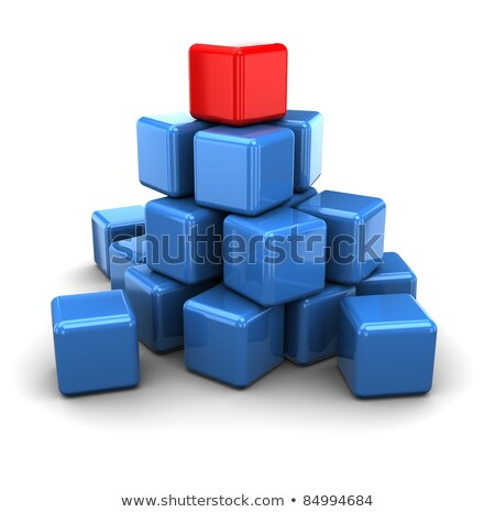 many blue and red boxes stock photo © monarx3d