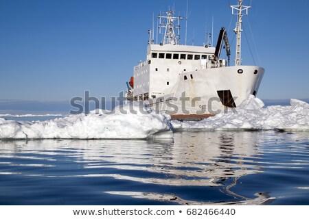 Ships In The Frozen Sea Stock photo © papa1266