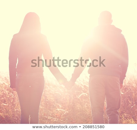 cows couple in love at sunset stock photo © adrenalina