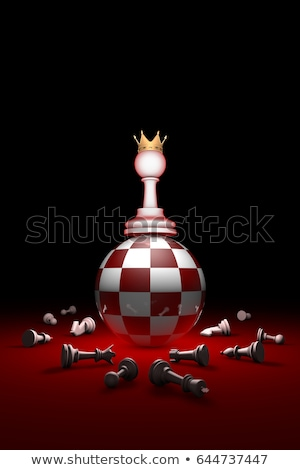 Deep  relax (chess metaphor). 3D render illustration. Free space Stock photo © grechka333