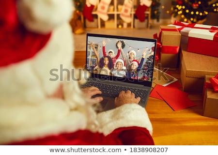 聖誕老人 · 調用 · 照片 · 快樂 · 溝通 · 手 - 商業照片 © val_th