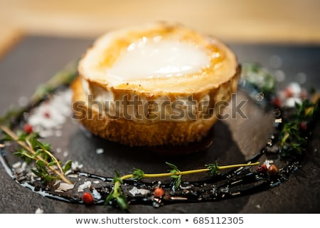 bread toast with goat cheese and honey Stock photo © M-studio