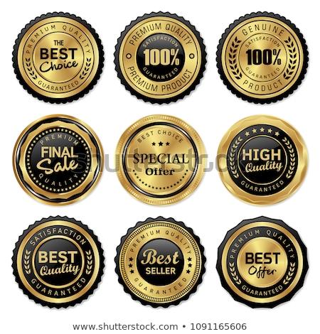 genuine quality product premium golden label badge design  Stock photo © SArts
