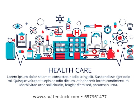 Stethoscope Icon Isolated. Health Care Concept. Stock photo © robuart