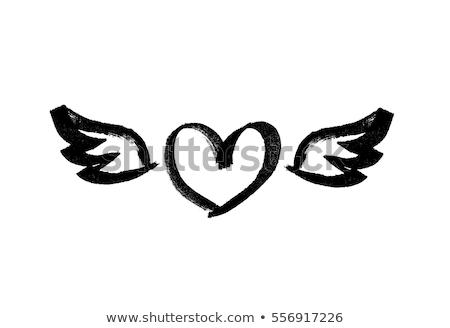 Liefde vleugels creatieve valentijnsdag foto twee Stockfoto © Fisher
