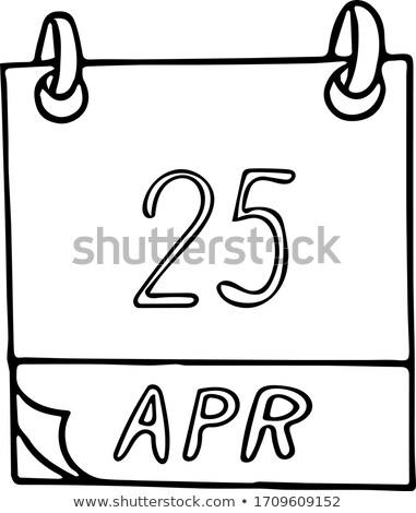 25 DNA takvim gün tebrik kartı tatil Stok fotoğraf © Olena