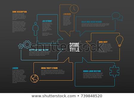vektor · infografika · vízszintes · idővonal · sablon · nyíl - stock fotó © orson
