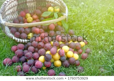 maturo · foglie · alimentare · frutta · bianco - foto d'archivio © simply