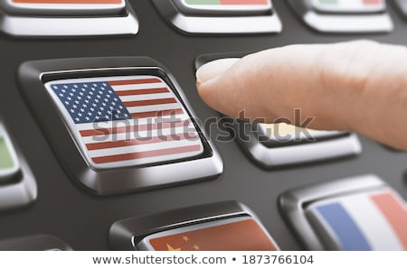 hand finger press local marketing button 3d stock photo © tashatuvango