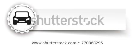 Emblem Car Paper Banner Header Stock photo © limbi007
