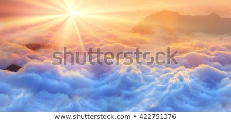 panoramic sunset above the fog stock photo © yhelfman