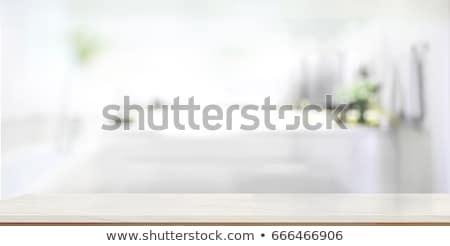 fürdő · fekete · kavicsok · díszített · virágok · tavasz - stock fotó © OliaNikolina