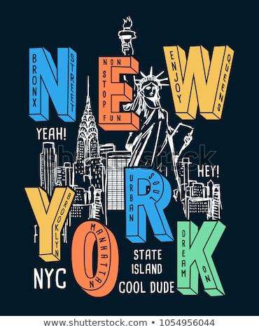 Camiseta gráficos nino Nueva York vector moda Foto stock © Andrei_