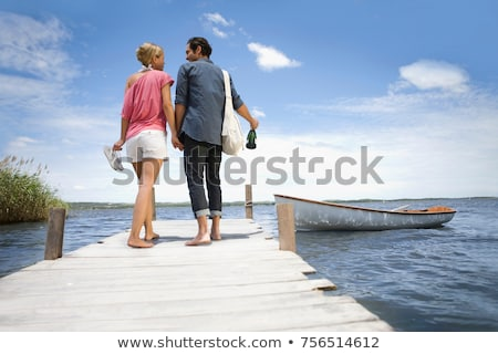 couple starting a boat trip stock photo © is2