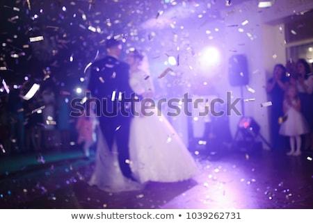Yeni evliler dans takım elbise kadın gülen Stok fotoğraf © IS2