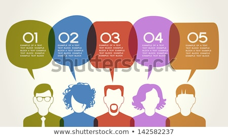 silhouette of a woman and infographics on internet and social media themes stock photo © conceptcafe