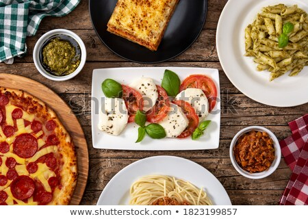 assorted pasta and tomato Stock photo © M-studio
