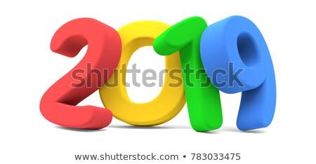 2019 clorful 3d rendering bold letters Stock photo © Wetzkaz