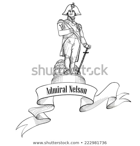 Admiral Nelson colunm, Trafalgar Square, London, Travel sign Stock photo © Terriana
