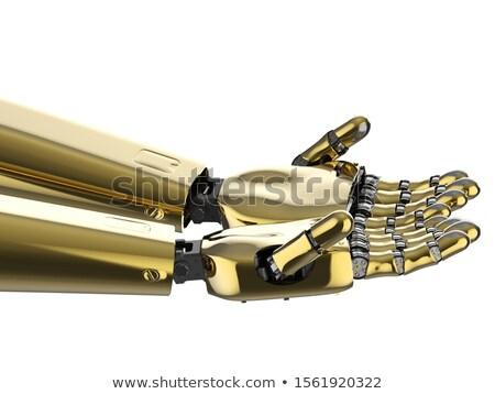Arany robot transzformátor izolált fehér 3d render Stock fotó © anyunoff