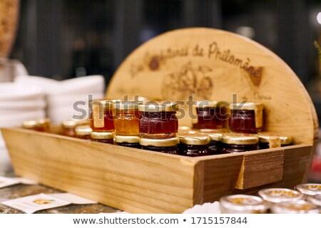 Small jars with various marmalade Stock photo © dash