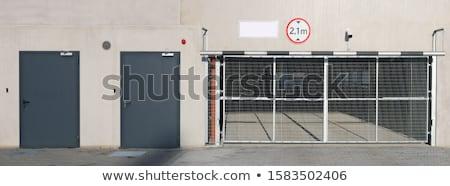 grande · garaje · concretas · piso · casa · trabajo - foto stock © brunoweltmann
