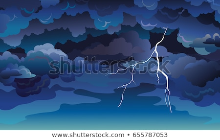 嵐の 1泊 実例 空 海 背景 ストックフォト © bluering