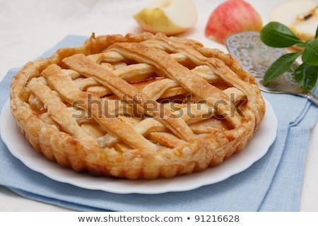традиционный американский яблочный пирог служивший свежие плодов Сток-фото © dash